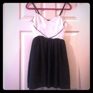 Flirty Black & White Heart Pattern Dress